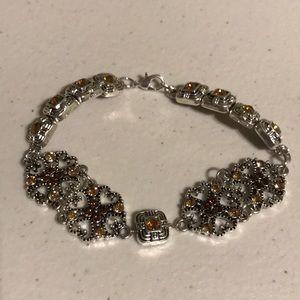 Jewelry - NWOT Topaz yellow rhinestone bracelet